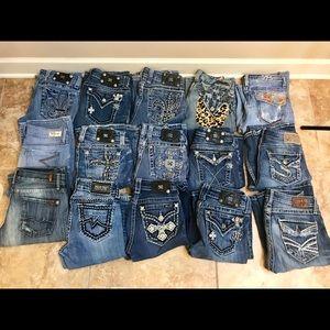 🔵Bulk Miss Me, Seven's & Silver Sale! 15 pairs!